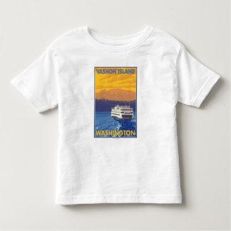 Transbordador y montañas - isla de Vashon, Playeras
