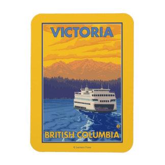 Transbordador y montañas - Victoria, A.C. Canadá Iman De Vinilo