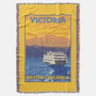 Transbordador y montañas - Victoria, A.C. Canadá Manta