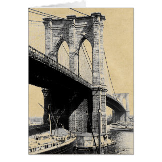 Transbordadores 1896 del puente de Brooklyn Tarjeta De Felicitación