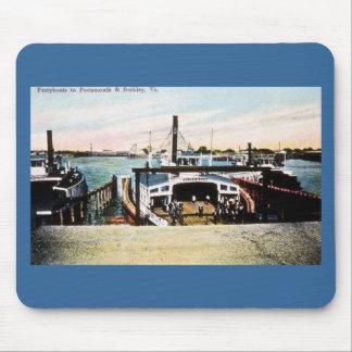 Transbordadores a Portsmouth y a Berkely VA Alfombrilla De Ratones