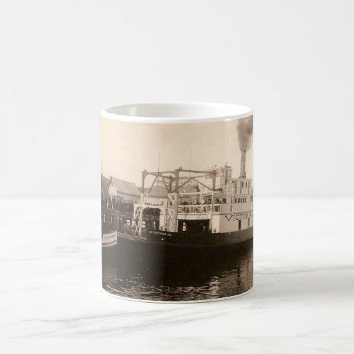 Transbordadores del vintage taza