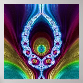 """Transcendent Alien V2 (12"""" x 12"""") Art Print Poster"""