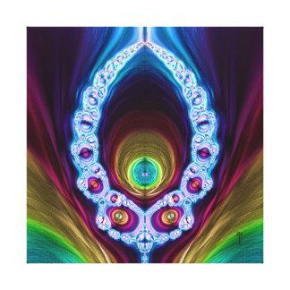Transcendent Alien V 2  Wrapped Canvas Print