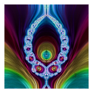 Transcendent Alien Variation 2  Art Print Poster