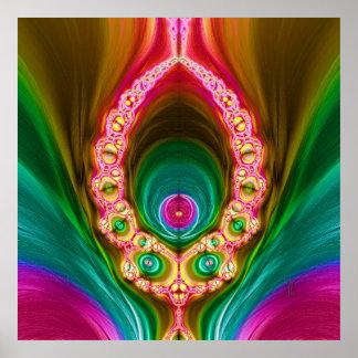 Transcendent Alien Variation 3  Art Print Poster