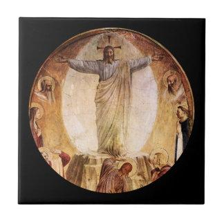 Transcendent  Christ Risen from the Tomb Ceramic Tile