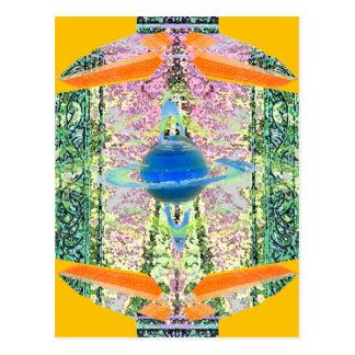 """Transcendent""  CricketDiane Visual Languages Postcard"