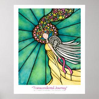 """""""Transcendental Journey"""" Pink Ribbon Ekleberry Art Poster"""