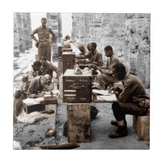 Transcribers in the Ruins Ceramic Tile