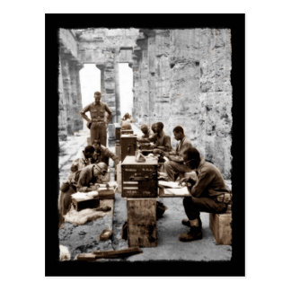 Transcribers in the Ruins Postcard