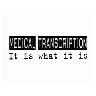 Transcripción médica es postal