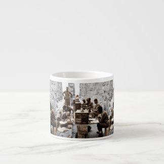 Transcription and Radio Operators in Ruins Espresso Cup