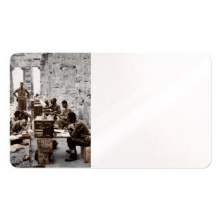 Transcription Machine Soldiers Business Card Templates