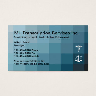 Medical transcription business cards templates zazzle transcription services business card colourmoves