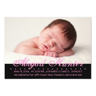 Transected Inscription Photo Birth Announcement