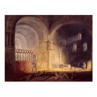 Transept of Ewenny Priory by William Turner Postcard