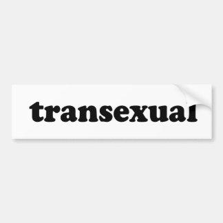TRANSEXUAL BUMPER STICKER
