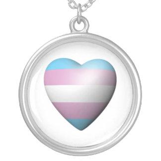 TRANSEXUAL PRIDE HEART CUSTOM NECKLACE
