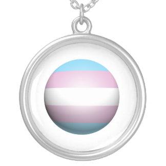 TRANSEXUAL PRIDE SPHERE CUSTOM NECKLACE