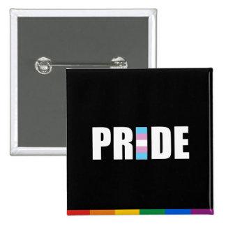 TRANSEXUAL PRIDE WORD FLAG 2 INCH SQUARE BUTTON