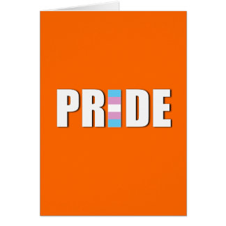 TRANSEXUAL PRIDE WORD FLAG GREETING CARD