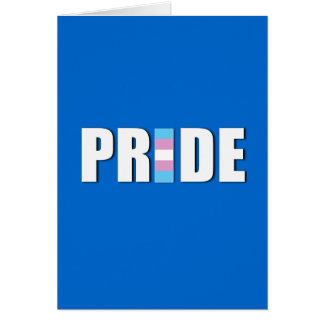 TRANSEXUAL PRIDE WORD FLAG GREETING CARDS