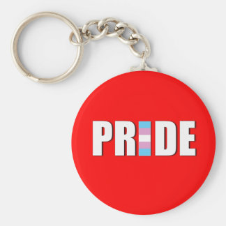 TRANSEXUAL PRIDE WORD FLAG KEYCHAIN