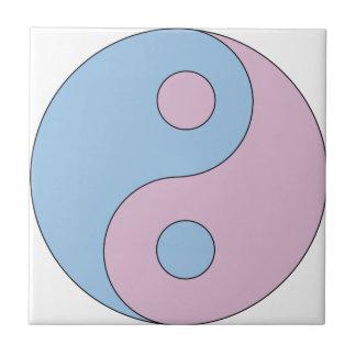 Transexual Yin/Yang Azulejo Cuadrado Pequeño