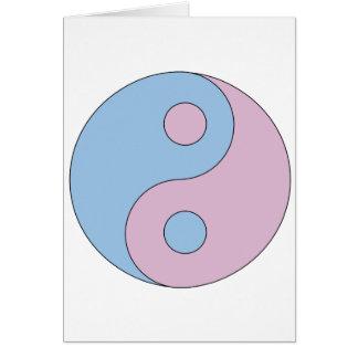 Transexual Yin/Yang Tarjeta De Felicitación