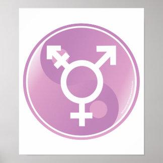 Transexual Ying Yang Poster