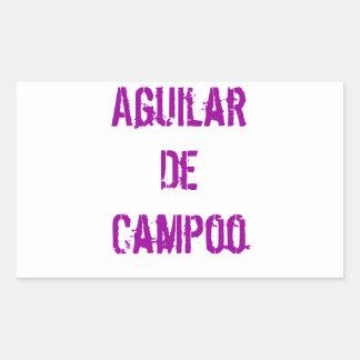 Transfer Aguilar De Campoo Rectangular Sticker