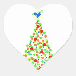 Transfer - Christmas Heart Sticker