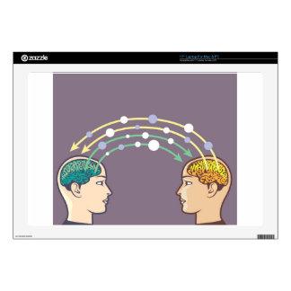 "Transfer of information between minds 17"" laptop skin"