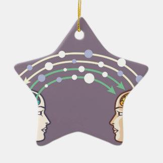 Transfer of information between minds ceramic ornament