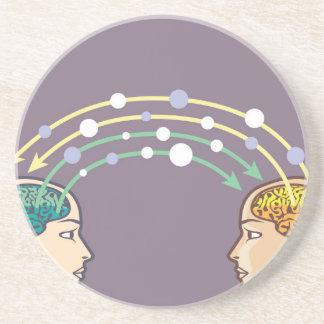 Transfer of information between minds drink coaster