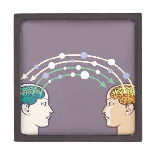 Transfer of information between minds keepsake box