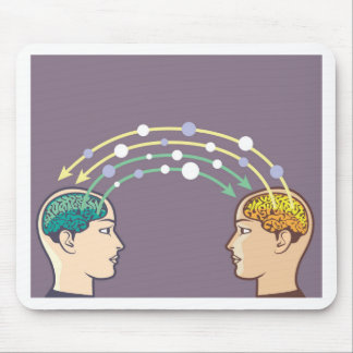 Transfer of information between minds mouse pad