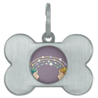 Transfer of information between minds pet ID tag
