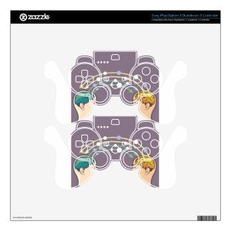 Transfer of information between minds PS3 controller skin