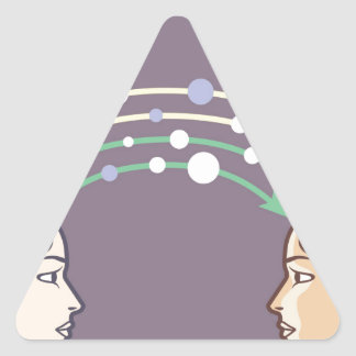 Transfer of information between minds triangle sticker