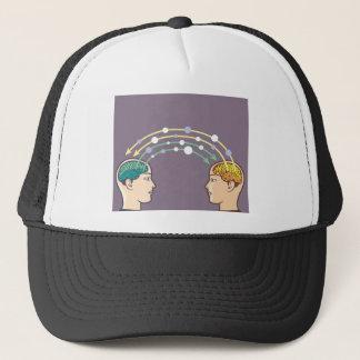 Transfer of information between minds trucker hat