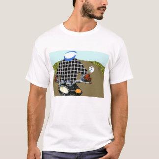 Transfered motor bike T-Shirt
