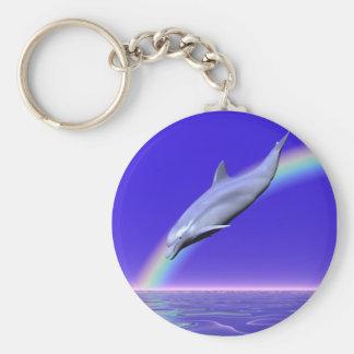 Transferencia directa del delfín llavero redondo tipo pin