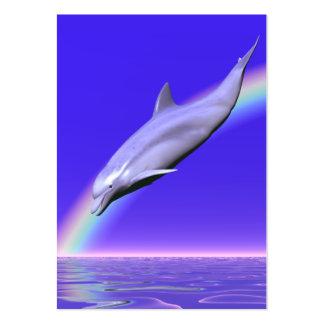 Transferencia directa del delfín - rechoncha tarjetas de visita grandes
