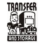 Transferencia y almacenamiento postal