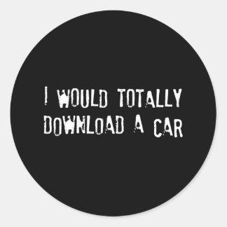 Transferiría totalmente un coche pegatina redonda