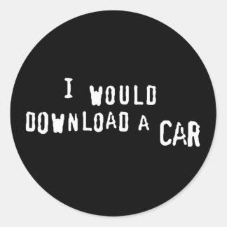 Transferiría un coche pegatina redonda