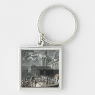 Transferring Prisoners to the Conciergerie Silver-Colored Square Keychain