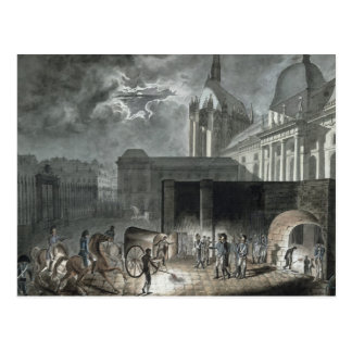 Transferring Prisoners to the Conciergerie Postcard